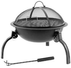 Feuerstelle Ø 52 cm mit Grillrost Barbecue Champ Wood