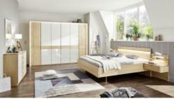 Schlafzimmer in Weiß, Birkefarben