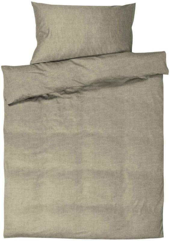 Bettwäsche Leinenoptik braun -  (Preis für kleinste Grösse)