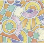 Möbelix Fensterfolie Sichtschutz Mosaik Bunt 200x45 cm