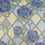 Möbelix Fensterfolie Sichtschutz Blumen Mosaik Bunt 200x67,5 cm