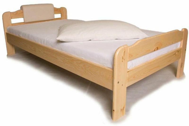 Einzelbett mit Lattenrost, 80x200 cm 80x65x221 cm