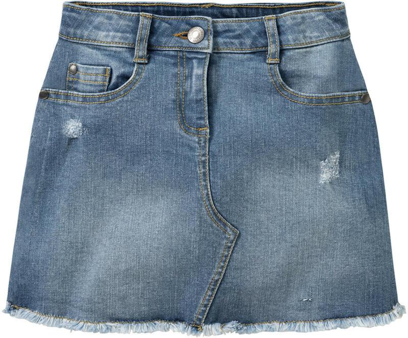 Mädchen Jeansrock mit Used-Waschung (Nur online)