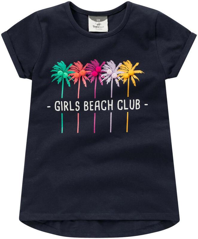 Mädchen T-Shirt mit Print und Pompons (Nur online)