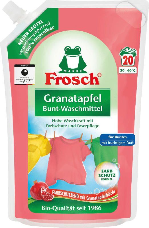 Frosch Colorwaschmittel flüssig Granatapfel
