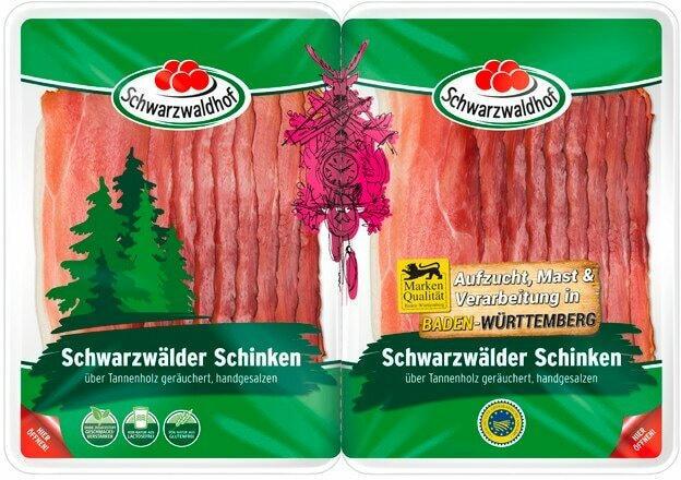 Schwarzwaldhof Schwarzwälder Schinken geschnitten
