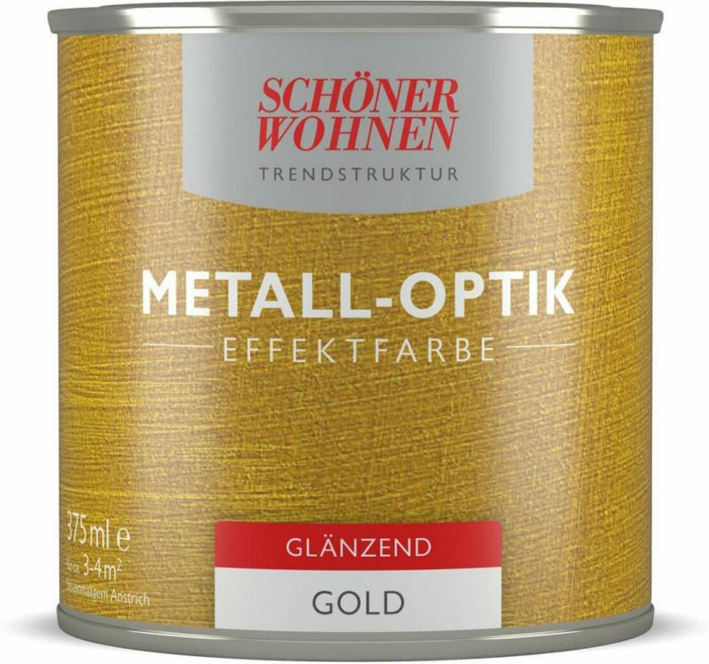 Metall-Optik Effektfarbe, Gold glänzend, 375 ml