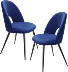 Stuhl-Set in Textil Blau