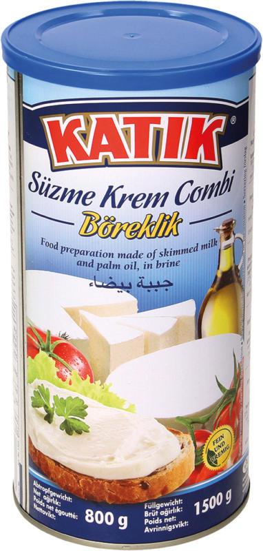 Lebensmittelzubereitung aus Magermilch und Palmöl in Salzlake