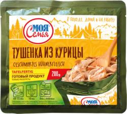 Geschmortes Hühnerfleisch