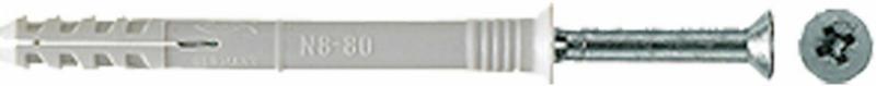 Nageldübel, N6x40/10 mm, Senkkopf, 50 Stück