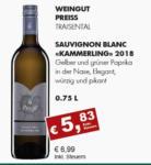"""Getränkehaus Krause & Vinothek Weinblatt 2018 Sauvignon Blanc """"Kammerling"""" - bis 30.04.2021"""