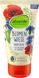 alverde NATURKOSMETIK Handcreme Blumenwiese Bio Klatschmohn, Bio-Kornblume