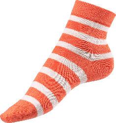Fascino Socken mit Streifen, Gr. 39-42, orange, weiß