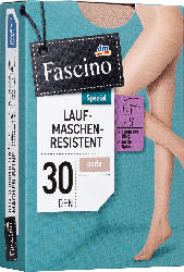 Fascino Strumpfhose laufmaschenresistent 30 den, Gr. 50/52, perle