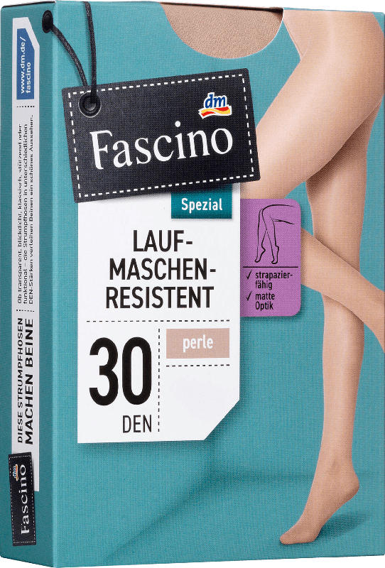 Fascino Strumpfhose laufmaschenresistent 30 den, Gr. 46/48, perle