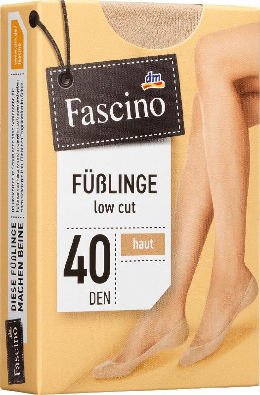 Fascino Füßlinge 40 den, Gr. 35-38, haut