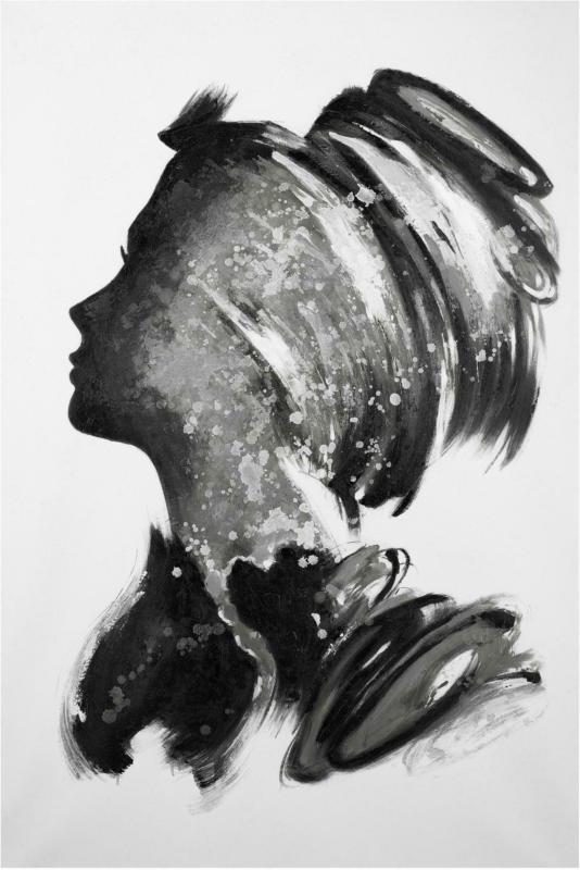 Keilrahmenbild Acryl in Schwarz/Weiß
