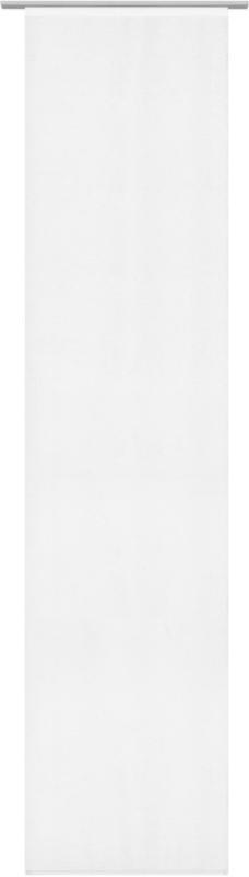 Flächenvorhang Uni in Weiß ca. 60x245cm