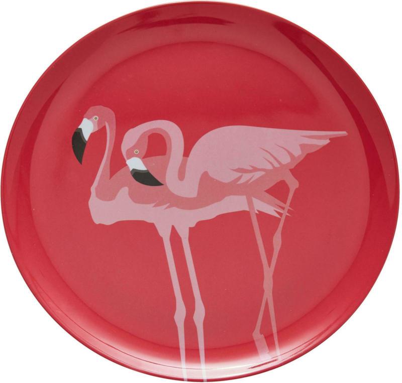 Speiseteller Flamingo Couple in Pink