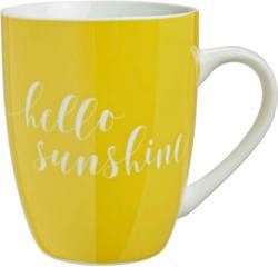 Kaffeebecher Fun in Weiß/Gelb