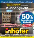 Möbel Inhofer Möbel Inhofer - Willkommen zurück im Küchenglück! - bis 31.03.2021
