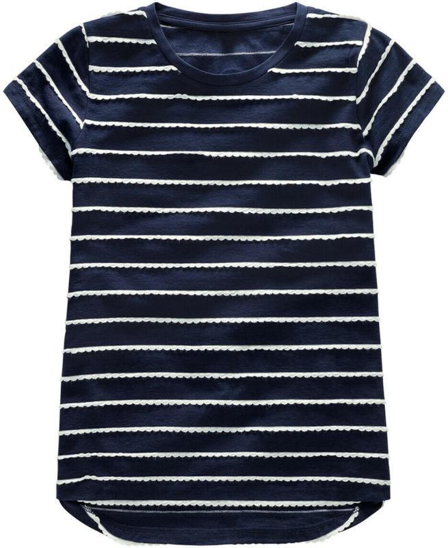Mädchen T-Shirt mit applizierten Streifen (Nur online)