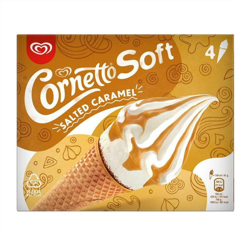 Eskimo Cornetto Soft Salted Caramel