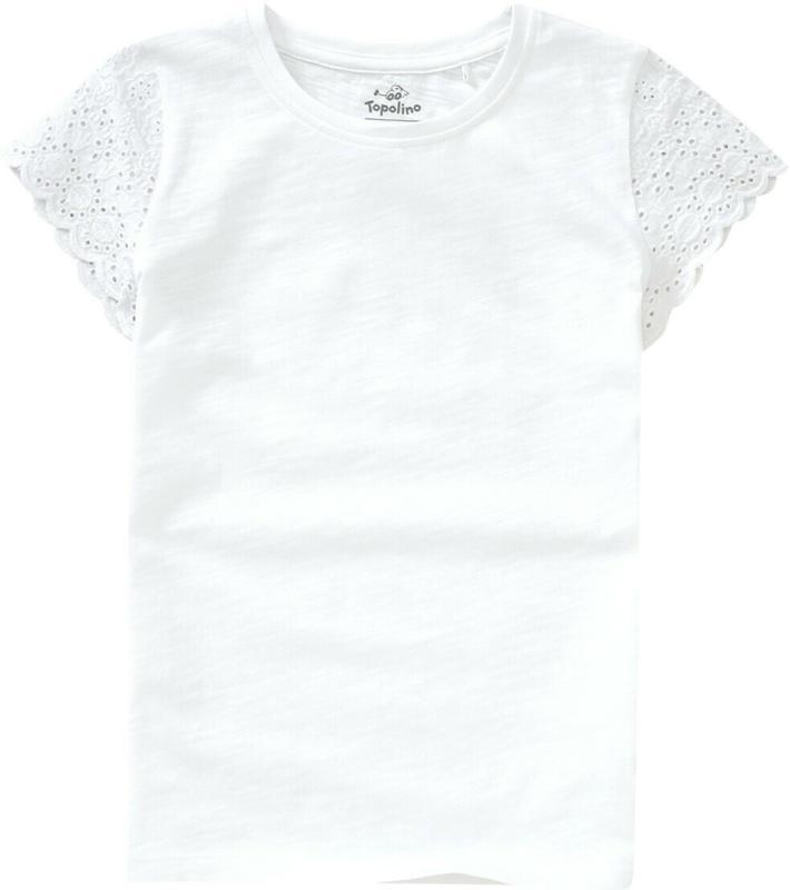 Mädchen T-Shirt mit Spitze (Nur online)