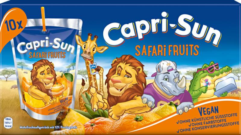 Capri-Sun Safari Fruits, 10 x 20 cl