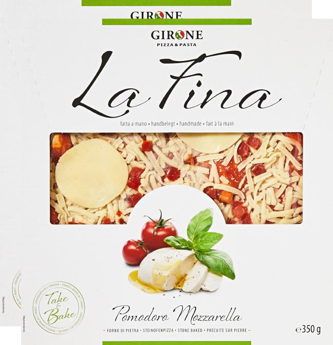 Pizza La Fina Girone, Tomate et mozzarella, 2 x 350 g