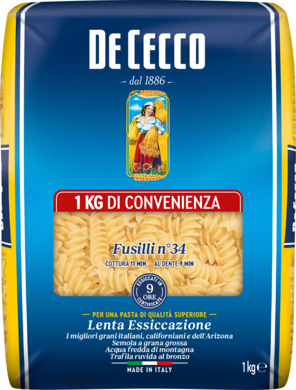 De Cecco Teigwaren, Fusilli n. 34, 1 kg