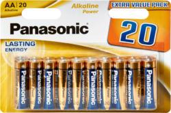 Pils Alkaline Power Panasonic , LR6 AA, 20 pièces