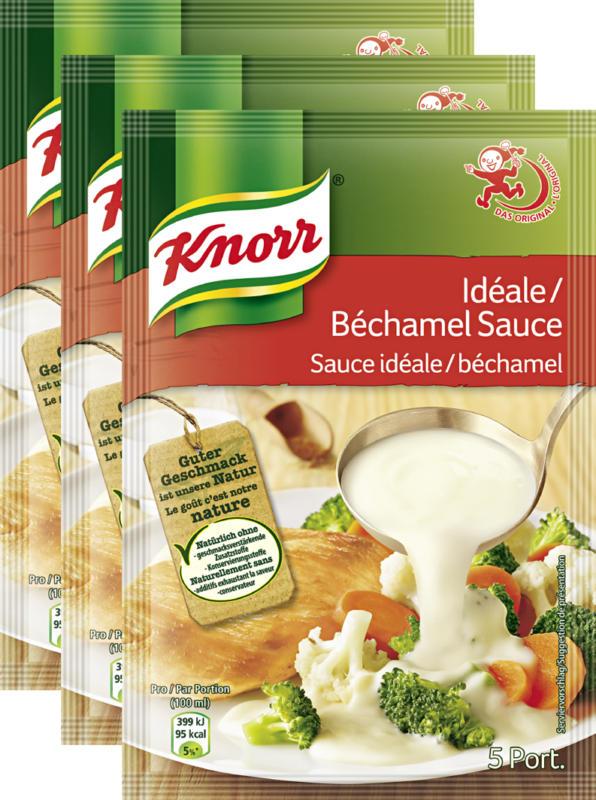 Knorr Sauce Idéale/Béchamel, 3 x 33 g