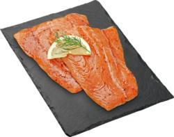 Filet de saumon BBQ Denner, avec peau, mariné, Atlantique Nord-Est, 2 pièces, env. 360 g, les 100 g
