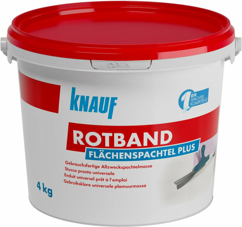 Knauf Rotband Flächenspachtel Plus 4 kg