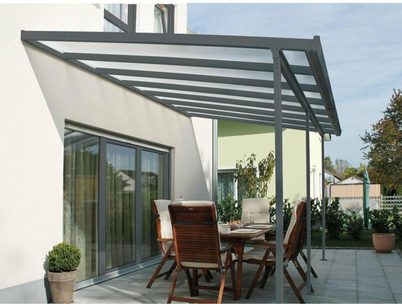 Terrassenüberdachung Bausatz (BxT) 546 cm x 306 cm Anthrazit