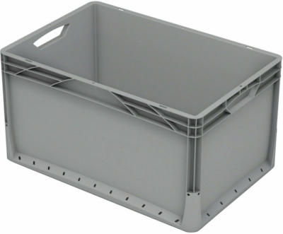 Eurobox-System Box Vollwand 60 x 40 x 32 cm Grau