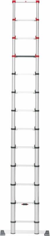 Hailo Aluminium Sicherheits-Teleskopleiter FlexLine 380 13-stufig