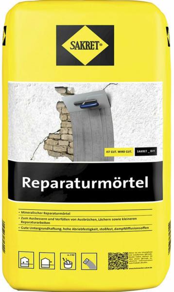 Sakret Reparaturmörtel Grau 25 kg