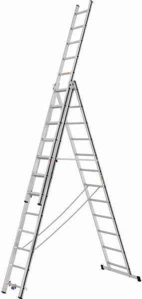 Hymer Mehrzweck-Leiter 3 x 12 Sprossen Arbeitshöhe 8,21 m