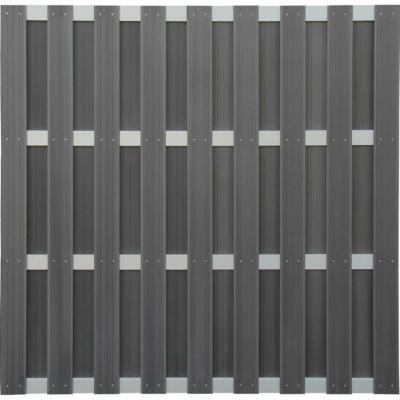 Sichtschutzzaun-Element WPC Alu-Anthrazit 180 cm x 180 cm