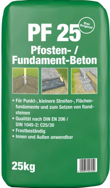 Pfosten- und Fundamentbeton PF25