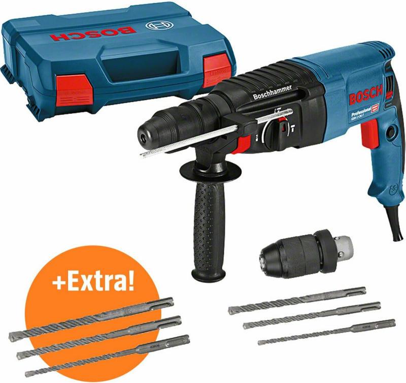 Bosch Professional Bohrhammer GBH 2-26 F Set inkl. 2 Bohrer-Sets