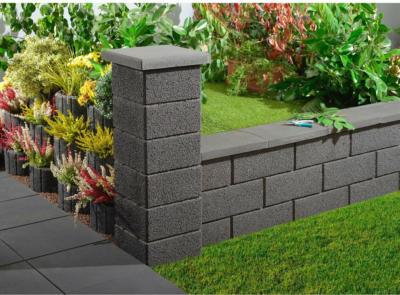 Kann Gartenmauer Normalstein Anthrazit 50 cm x 20 cm x 25 cm