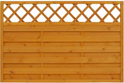 Andrewex Sichtschutzzaun-Element Country Pinienfarben lasiert 120 cm x 180 cm