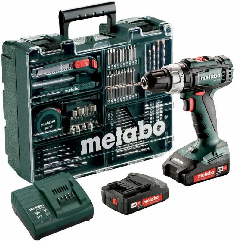 Metabo Akku-Schlagbohrmaschine SB L 18 Set Mobile Werkstatt inkl. 2 Li-Ion-Akkus