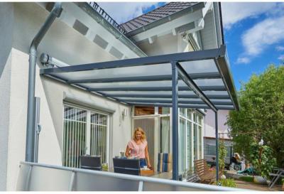 Terrassenüberdachung Bausatz (BxT) 306 cm x 306 cm Anthrazit