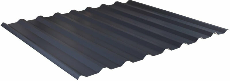 Trapezblech 2.000 mm x 1.100 mm mit 0,5 mm Stärke Anthrazit