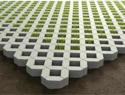 Rasengitterstein Beton Grau ca. 60,8 cm x 40,8 cm x 8 cm